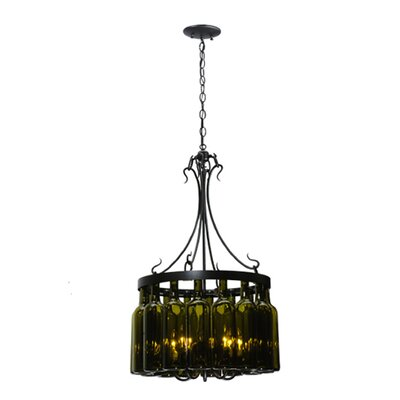 Tuscan Vineyard Villa 5-Light Drum Chandelier