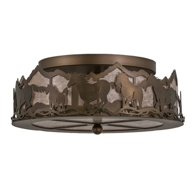 Wild Horses 3-Light Flush Mount