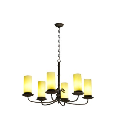 Atria Oblong 6-Light Shaded Chandelier