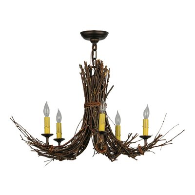 Twigs 5-Light Candle-Style Chandelier
