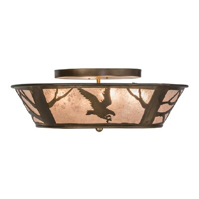 Northwoods Strike of the Eagle 4-Light Flush Mount