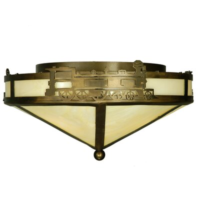 Train 3-Light Flush Mount