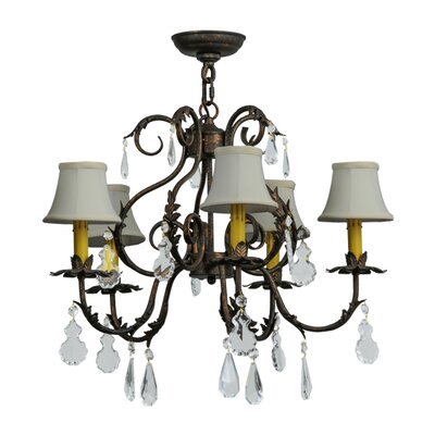 Chantilly 5-Light Shaded Chandelier