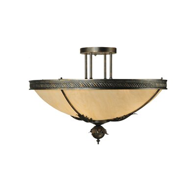 Hoja 4-Light Semi-Flush Mount
