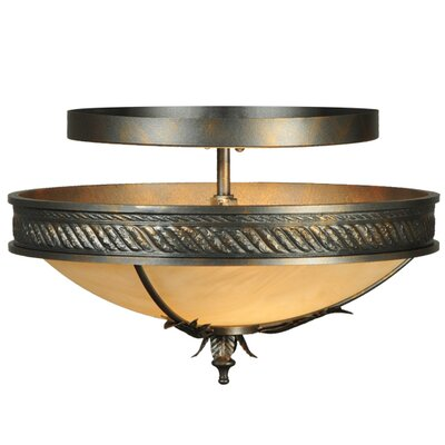 Hoja 2-Light Semi-Flush Mount