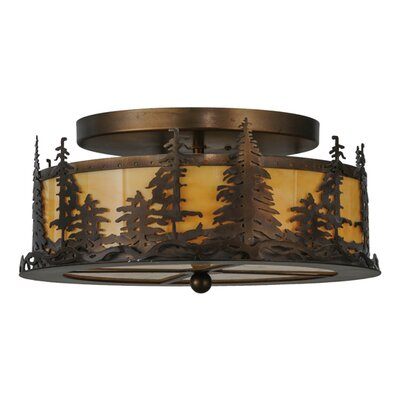 Tall Pines 2-Light Semi-Flush Mount