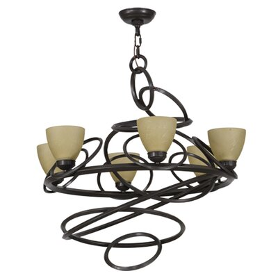 Anneau 6-Light Shaded Chandelier