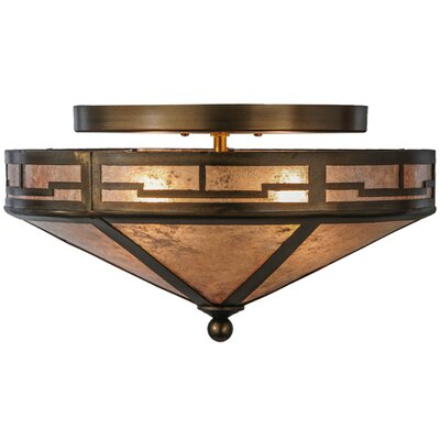 Bungalow Valley View 2-Light Semi-Flush Mount