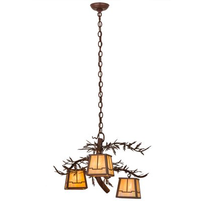 Pine Branch Valley View 3-Light Shaded Chandelier
