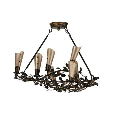 Vinca Vine 7-Light Shaded Chandelier