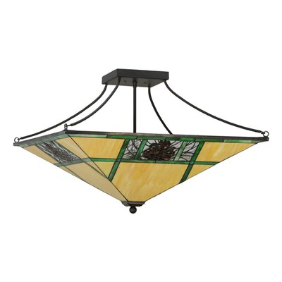 Pinecone Ridge 4-Light Semi-Flush Mount
