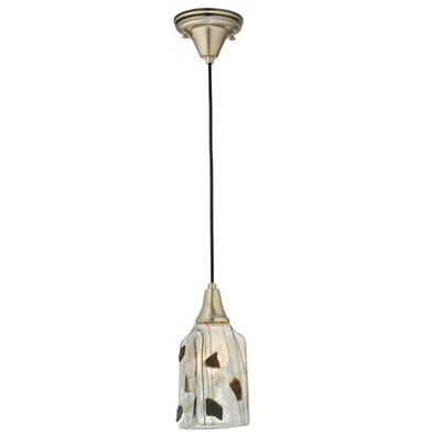 Metro Fusion Licorice Draped Glass 1-Light Mini Pendant