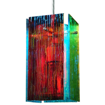 Metro Fusion Fire and Ice Mist Quadrato 1-Light Mini Pendant