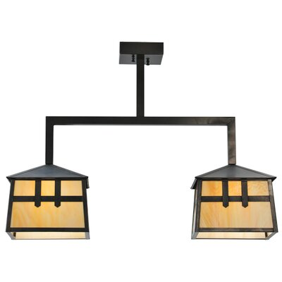 Stillwater Double Cross Mission 2-Light Kitchen Island Pendant