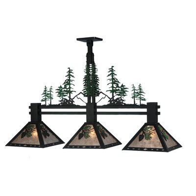 Winter Pine Tall Pines 3-Light Kitchen Island Pendant