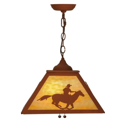 Cowboy & Steer 2-Light Pendant