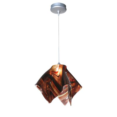 Metro Cabernet Swirl Handkerchief 1-Light Mini Pendant