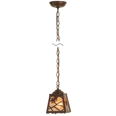 Spruce Pine 1-Light Mini Pendant Finish: Antique Copper, Size: 12 - 71 H x 8.5 W x 8.5 D