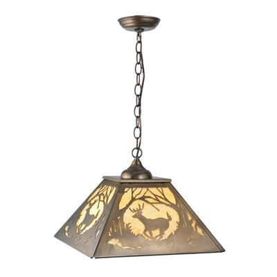 Deer at Dawn 2-Light Pendant Shade Color: Amber