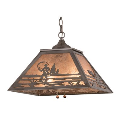 Fly Fishing Creek 2-Light Geometric Pendant