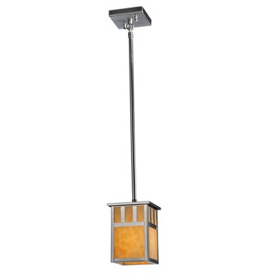 Double Bar Mission 1-Light Mini Pendant