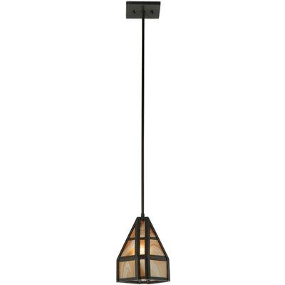 Geometric Cognac Swirl 1-Light Mini Pendant