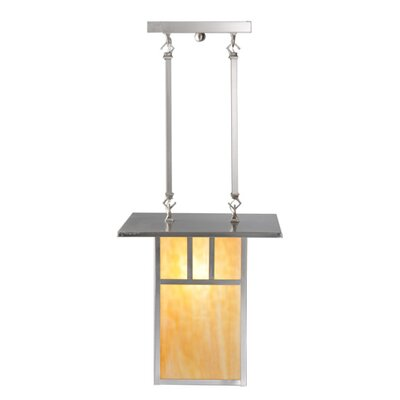 Double Bar Mission 2-Light Foyer Pendant