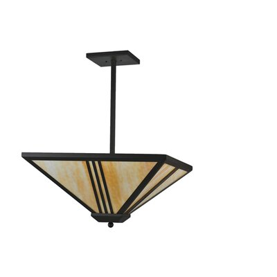 Tres Lineas Mission 4-Light Inverted Pendant