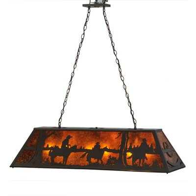 Personalized Rockin C Ranch 9-Light Pool Table Light