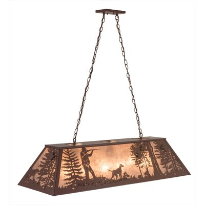 Quail Hunter with Dog 9-Light Pendant