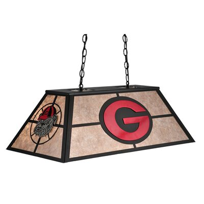 Personalized Georgia Bulldogs 6-Light Pool Table Lights