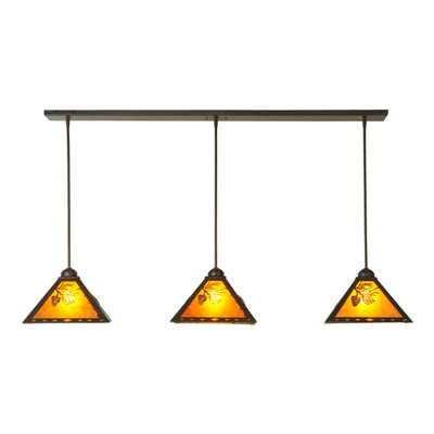 Lone Pine 3-Light Kitchen Island Pendant