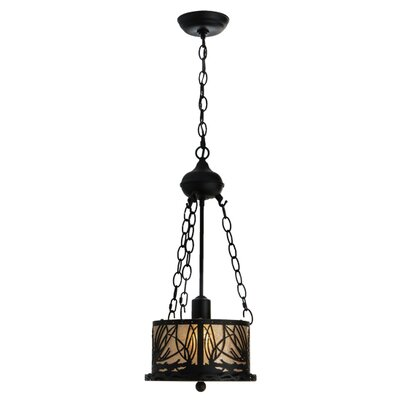 Mountain Pine 1-Light Inverted Pendant Finish: Black