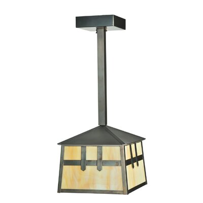 Stillwater Double Cross Mission 1-Light Foyer/Lantern Pendant