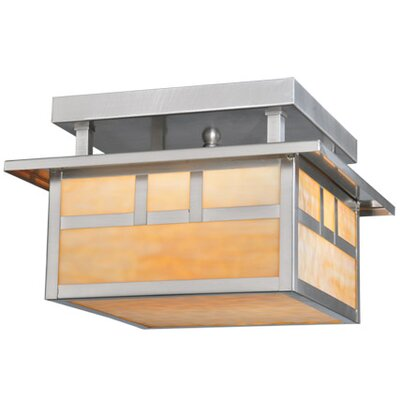 Double Bar Mission 2-Light Semi Flush Mount