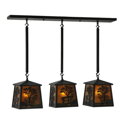 Serengeti 3-Light Kitchen Island Pendant