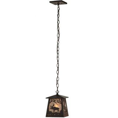 Moose at Dawn 1-Light Mini Pendant