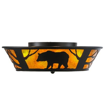 Bear on the Loose 4-Light Flush Mount