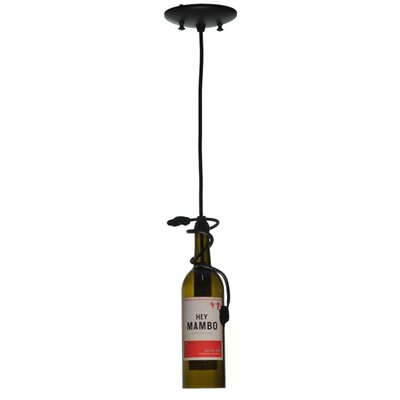 Personalized Hey Mambo Wine Bottle 1-Light Mini Pendant