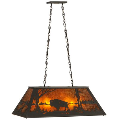 Buffalo at Lake 6-Light Pendant