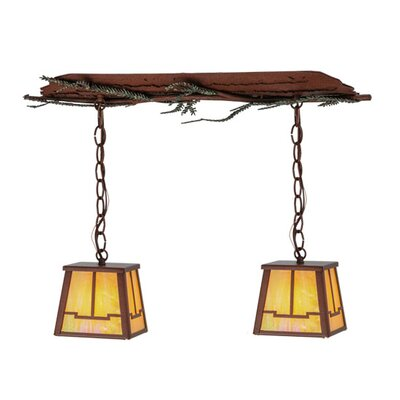 Pine Branch Valley View 2-Light Kitchen Island Pendant