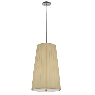 Channell Tapered and Pleated 3-Light Drum Pendant