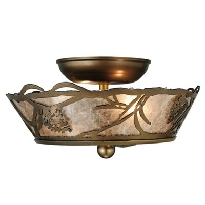 Whispering Pines 2-Light Semi-Flush Mount