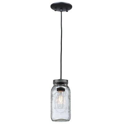 Mason Jar 1-Light Mini Pendant