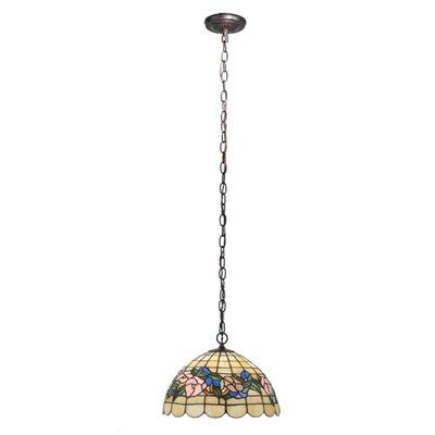 Tiffany Pansy 3-Light Bowl Pendant Size: 47 H x 13 W x 13 D