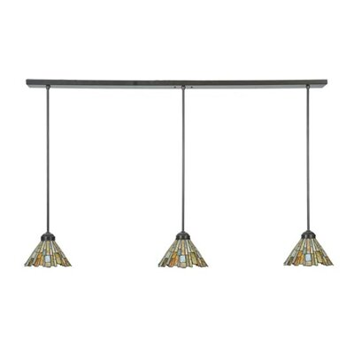 Jadestone Delta 3-Light Kitchen Island Pendant