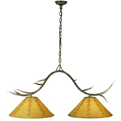 Branches Faux Leather 2-Light Kitchen Island Pendant