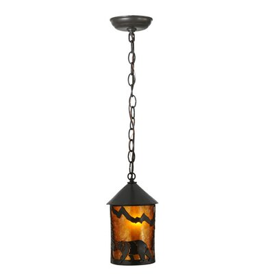Northwoods Lone Bear 1-Light Mini Pendant