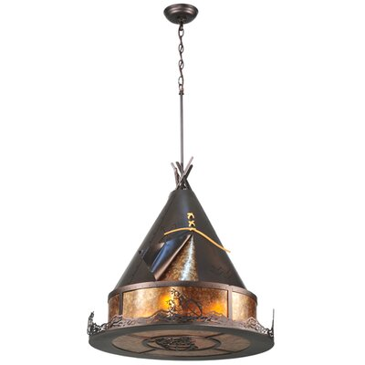 Teepee Athabasca 2-Light Pendant Size: 40 - 58 H x 24 W x 24 D