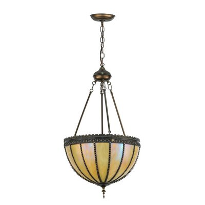 Gothic Iridescent 3-Light Inverted Pendant Size: 70 H x 17.5 W x 17.5 D